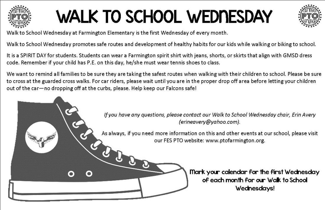f94111f2799 Walk-to-School Wednesday - Farmington Elementary PTO